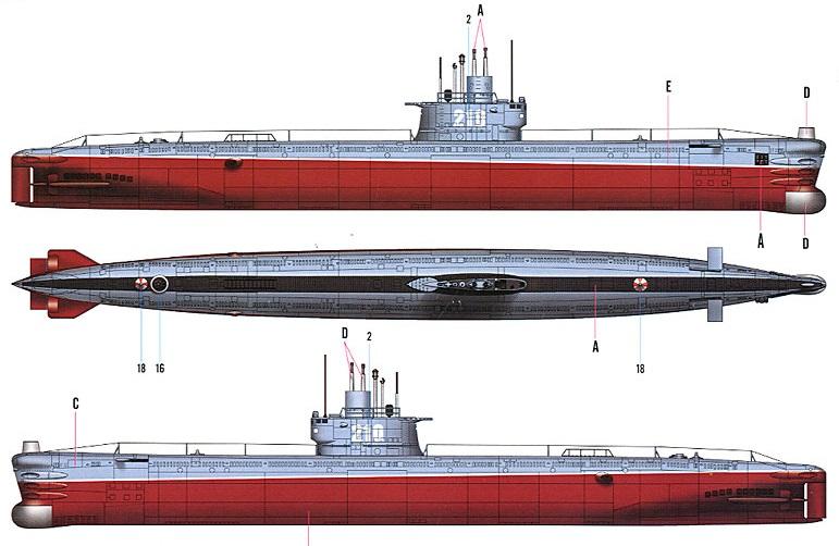 модели подводных лодок проект 633